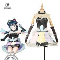 ROLECOS Love Live Sunshine Ruby Chika Hanamaru Mari Riko You Cosplay Dress Cyber Video Game Aqours Member Costume Cosplay