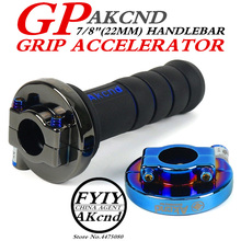 AKCND Universal 7/8 Motorcycle Throttle Twist Grips 22mm CNC Aluminum Grip Accelerator Moped Scooter Dirt Bike Refit Part