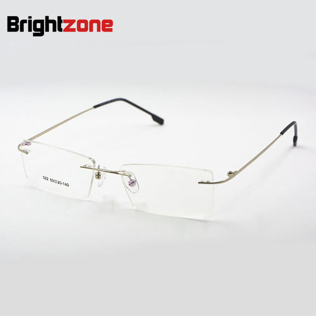 14491a20c6 Titanium Memory Flexible Rimless Frame Eyeglasses Optical Prescription  Glasses Spectacle for Women and Men Frame Shape