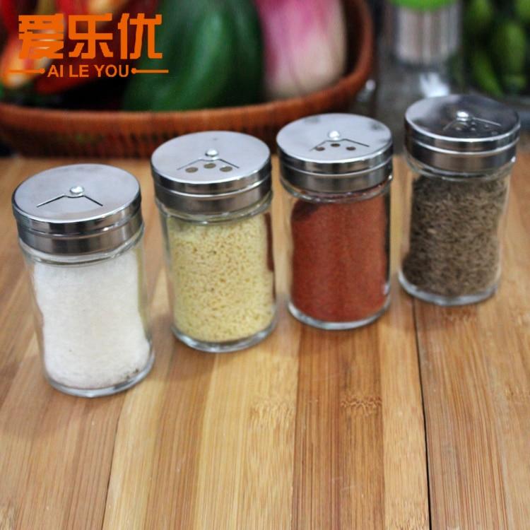 aiyue glass spice bottle set condiment bottles spice jar pepper powder bottle seasoning box set