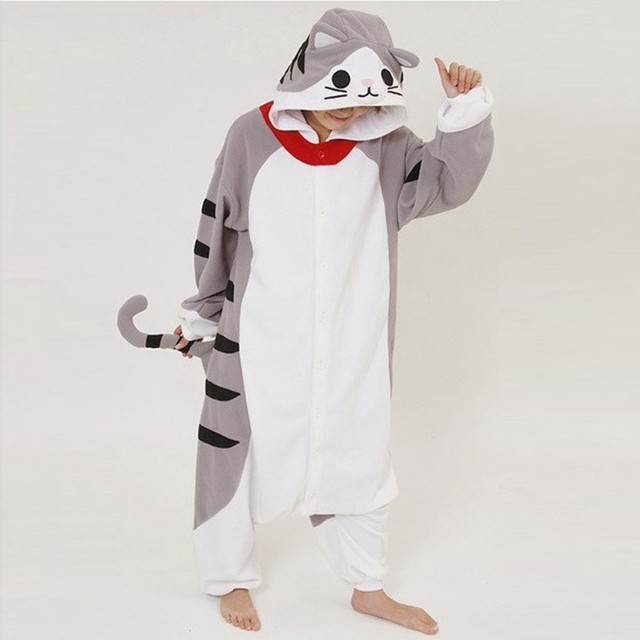 Sweet Cat Patterned Party Pajama