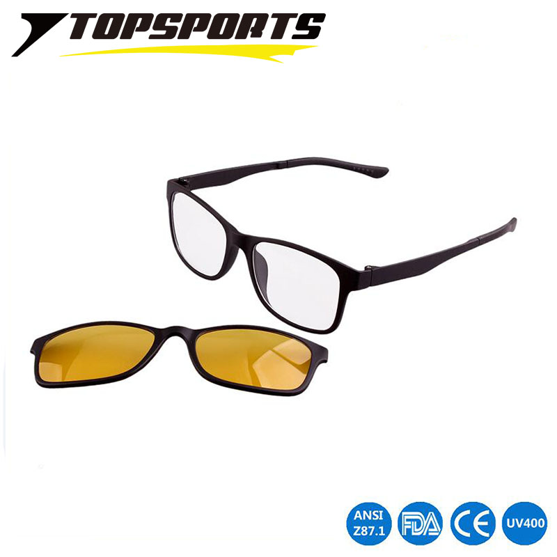 d4cbc4d1b5d7f TOPSPORTSwomen homem magnético clip sobre Óculos De Sol polarizado miopia  lente PC Óculos de condução super leve prescrição óptica óculos