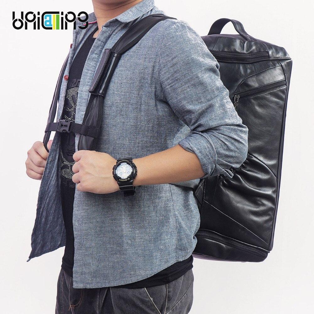 Большой Ёмкость Для мужчин восстановить 3D заклепки рюкзак с изображением Льва в готическом стиле, 3D из тиснёной кожи; винтажная сумка через ... - 2