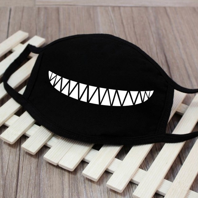 High Quality 1PC Cartoon Face Mask Funny Teeth Pattern Unisex Cute Anti-bacterial Dust Winter Cubre Bocas Hombre Mouth Mask 5