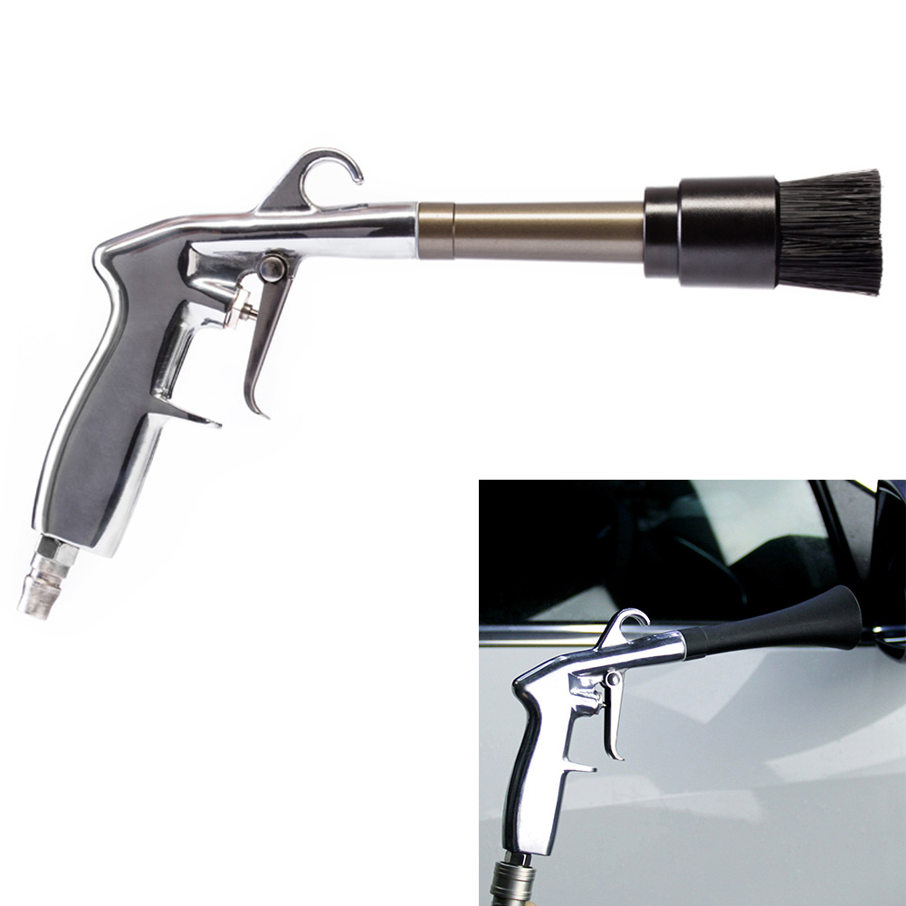 Useful New Car Blower With Brush Aluminium Alloy Vehicle Air Dry Duster Dryer Cleaning Tool Power Cleaner XH8Z AU06