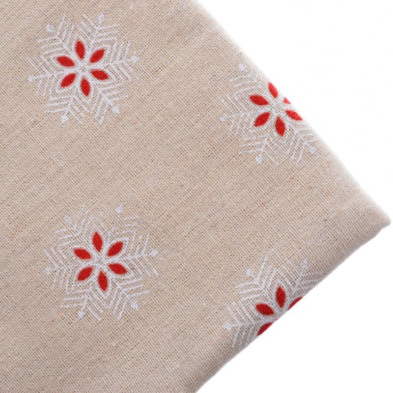 8574d4bb65d Materiais de algodão de Linho Tecido Patchwork Para Costura Costura Tecido  Para Almofada Do Sofá Saco Da Boneca de Pano Para O Natal Neve 50x145 cm