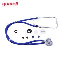 Yuwell estetoscópio profissional cabeça multifuncional cardiologia taxa pulmão equipamentos médicos fetal vet freqüência cardíaca irregularidade