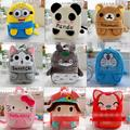 Candice guo plush toy baby cartoon animal backpack shoulder bag Satchel schoolbag Minions Batman rilakkuma bear panda rabbit 1pc