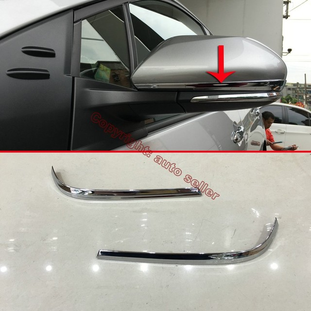 Toyota Sequoia Chrome Body Side Molding 2008: ABS Chrome Side Mirror Cover Trim For Toyota Prius 2016