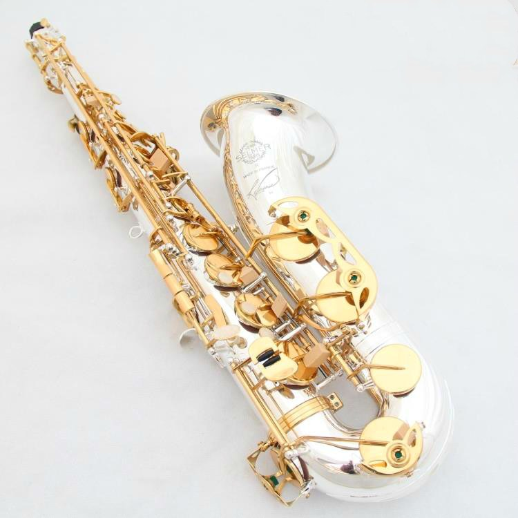 Salma France 54 B Flat Tenor saxophone Music instrument Silvering Gold Keys New saxophone professional grade Free shipping wholesale france 54 bronze copy henry selmer tenor saxophone instrument reference