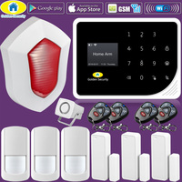 Golden Security S5 WIFI GSM Alarm Systems Security Home APP Control PIR Motion Detector 110dB Siren