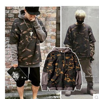 Spring Autumn Bape Hoodie Fake Two Camouflage Sweatshirt Fashion Hip Hop Men S Hoodies Korean Version
