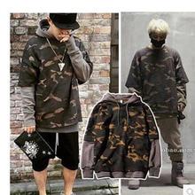 Frühling Herbst hoodie Gefälschte zwei Camouflage sweatshirt Mode hip hop herren pullover Koreanische version hoodies männer Sportbekleidung