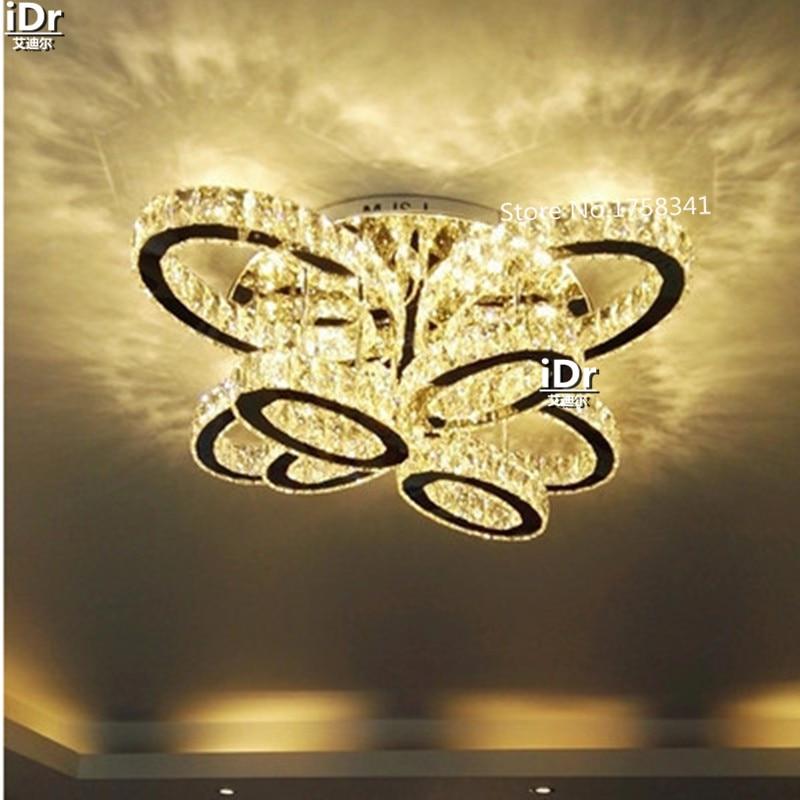Europe Design Led plafonniers lustre salon cristal lampe maison - Éclairage intérieur