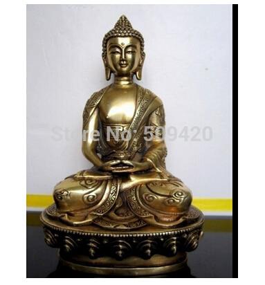 Rame Ottone CINESE artigianato decor ation Asian Tibetan bronzo Amitabha statua di buddhaRame Ottone CINESE artigianato decor ation Asian Tibetan bronzo Amitabha statua di buddha