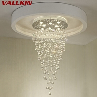 Chandeliers Led Round Crystal Restaurant Chandelier Lamps Lighting Hanging Pendant Indoor Deco Modern Lamp Fixtures