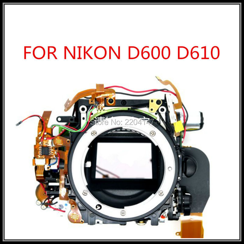 Original Small Main Body,Mirror Box With Shutter,Aperture Control Unit replacement Part For Nikon D600 D610