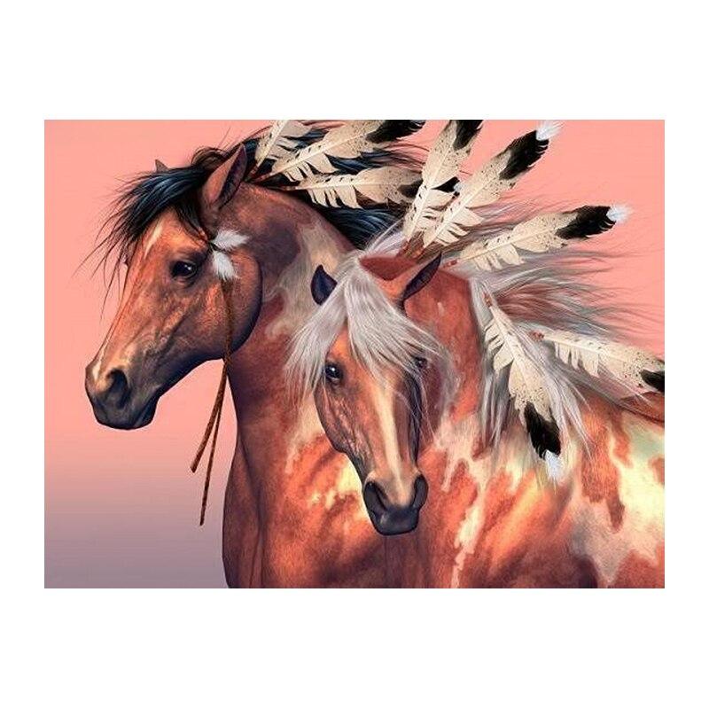 The horse ranch 5D needlework diamond mosaic square home decor diamond embroidery crafts diamond painting cross stitch