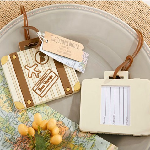 wedding party gift and giveaways for guest -- Let the Journey Begin Vintage Suitcase Luggage Tag bridal shower favor 20pcs/lot