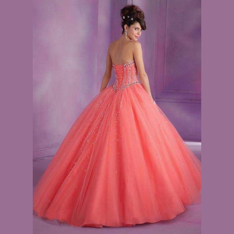New-Coral-Peach-Quinceanera-Dresses-Ball-Gown-2016-Custom-Crystal-Vestidos-De-15-Anos-Sweetheart-Quinceanera (1)