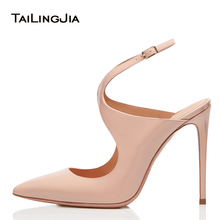 цена Pointed Toe High Heel Black Slingbacks Women Nude Elegant Heeled Pumps Evening Dress Shoes Ladies Summer Party Heels Big Size онлайн в 2017 году