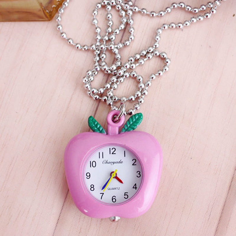 2018 Cyd Women Ladies Fruit Shape Pocket Watches Cute Key Chains Fashion Quartz Pendant Fob Watches Clock For Students Gifts
