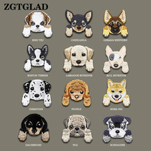 ZGTGLAD 1Pc Lovely Small Dog Patch Chihuahua Shiba Cloth DIY Patchs Babys Clothing BackPack Decoration Iron On Applique