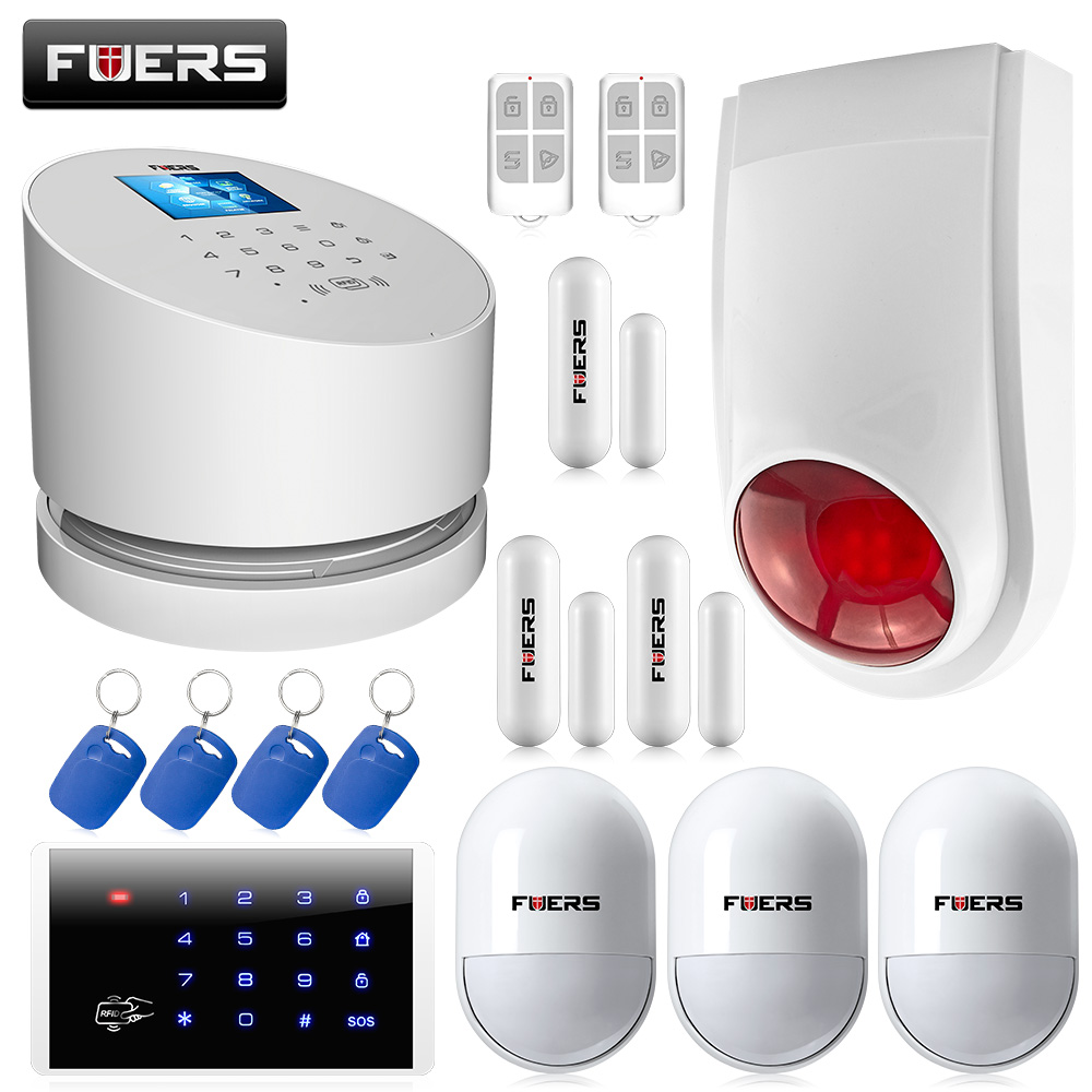 Original WiFi GSM PSTN RFID line telephone burglar Security Alarm System Wifi GSM home alarm Android IOS App remote controller wolf guard wifi wireless 433mhz android ios app remote control rfid security wifi burglar alarm system with sos button