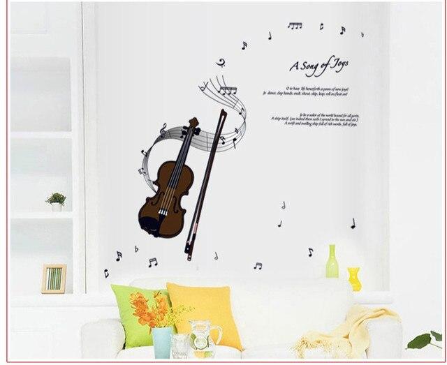 Diy 3d Wall Art Violin Music Notes Wall Decals Vinyl Wall Sticker