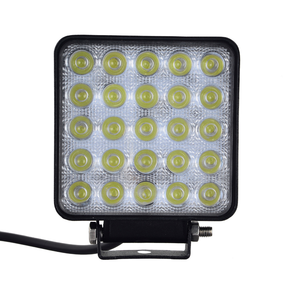 10PCS 75W 25x 3W 7500 LM Bil 12-24V LED Light Bar som LED Arbeidslys Flood Light Spot Light ledet bil for båt Jakt Fiske
