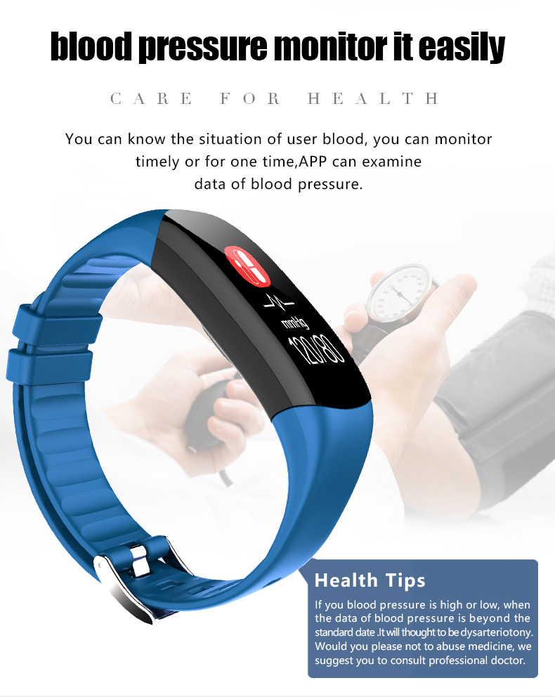 P7 Smart Wristband Bluetooth 4.0 Band Heart Rate Monitor Sport IP67 Waterproof OLED Smartband Bracelet For Android IOS Phone (14)