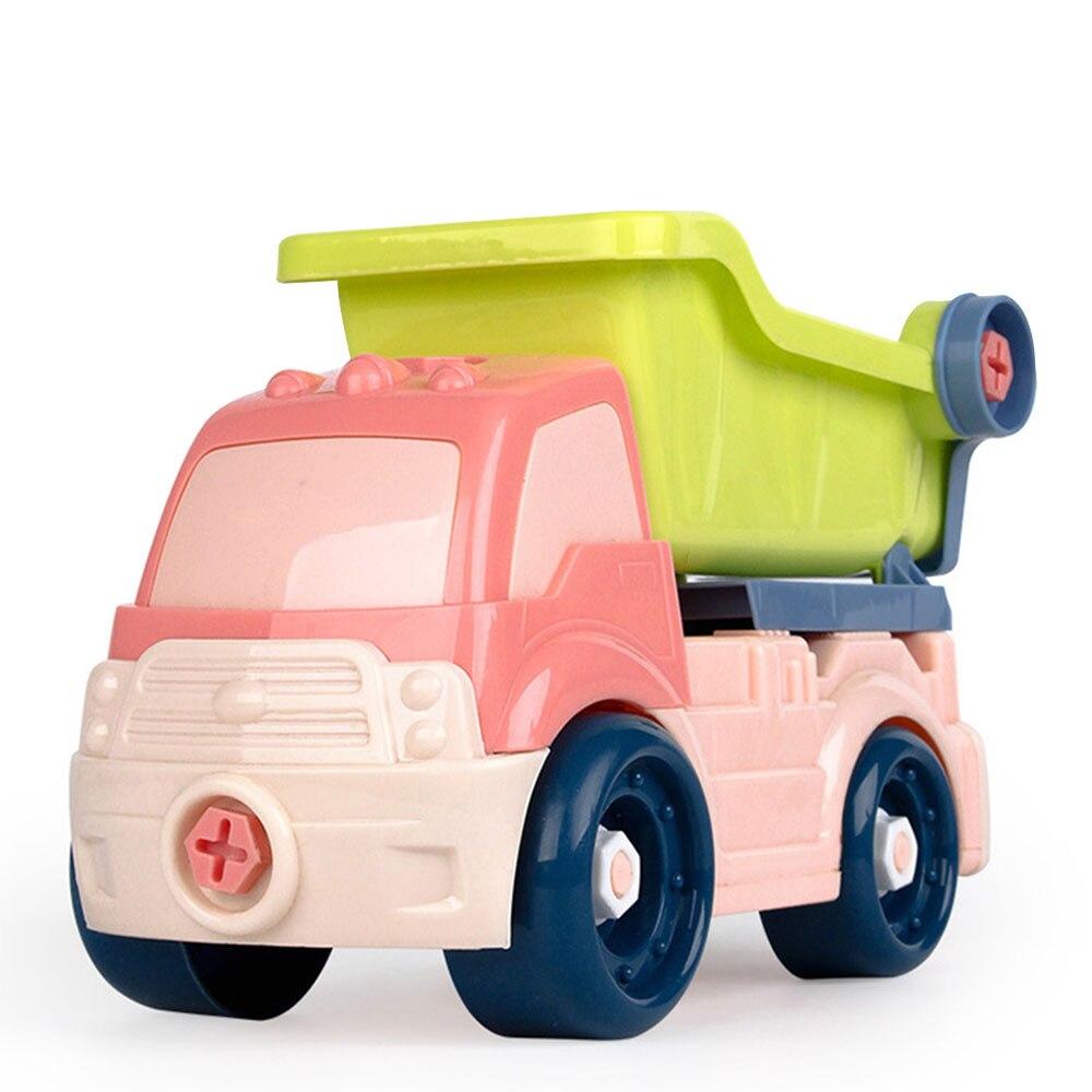 Новая модель автомобиля Пластиковый интерес Выращивание DIY автомобиль для подарка Прямая - Цвет: Dump truck