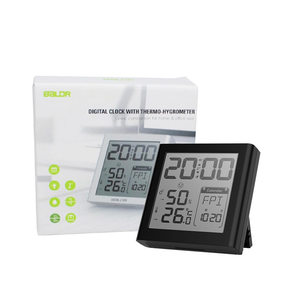 Baldr Digital Clock Alarm Snooze Күнтізбе Күнтізбе - Үйдің декоры - фото 6