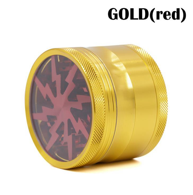Hot Sale Colorful 4parts 63mm Aluminum Lightning Herb Weed Grinder Weed Smoke Tobacco Wiet Grinder in Tobacco Pipes Accessories from Home Garden