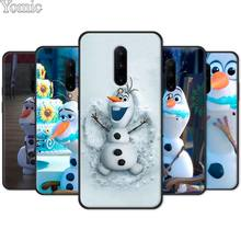 Black Case for Oneplus 7 7 Pro 6 6T 5T Silicone Phone Case for Oneplus 7 7Pro Olaf Snowman Frozen Soft Cover Shell