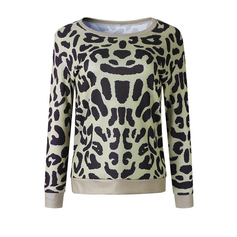 DeRuiLaDy Women 2018 Autumn Winter Long Sleeve Sweatshirt Hoodies Sexy O Neck  Leopard Print Sweatshirts Tops Casual Hoodied-in Hoodies   Sweatshirts from  ... 0a7d541c5