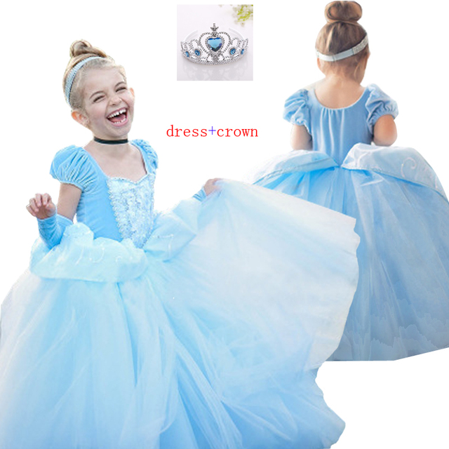 Cinderella Christmas.Us 17 59 25 Off Children Fancy Rapunzel Sofia Snow White Dress Cinderella Christmas Carnival Costume For Kids Girl Princess Party Dress Clothing In