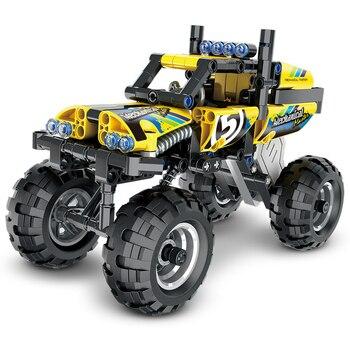 Série Technic Jeep Monster Truck Motocicleta Carro Bloco de Construção Blocos de Construção de Tijolos Brinquedos Educativos Para Crianças