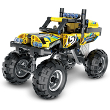 Technic Series Jeep Monster Truck Motorcycle Building Blocks Bricks Toys Educational Construction Block Car For Kids цены онлайн
