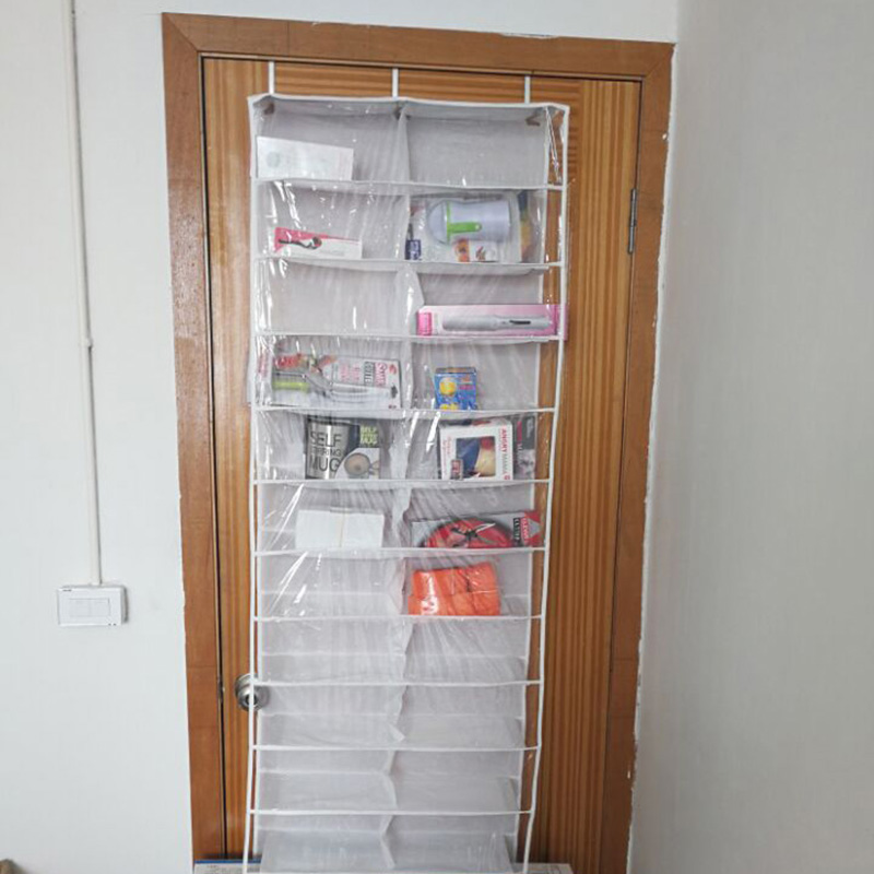 26 Grids Pockets Bedroom Room Over Door Hanging Shoe Rack Shelf PA