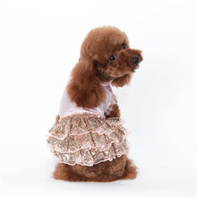 Custom SATIN SEQUIN Princess Dress summer clothes Tactic pet Chihuahua dog Bichon spring and summer clothes