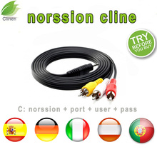 Europe HD cable 1 Year norssion clines for Satellite tv Receiver for Clines WIFI FULL HD DVB-S2 Support cline cam iptv цена в Москве и Питере