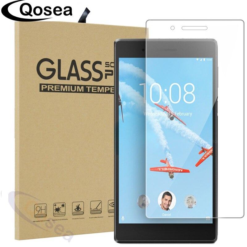 Qosea Trempé Verre Pour Lenovo Tab E7 TB-7104F 7104 7 pouce Écran Protecteur Ultra-mince Clair Pour Lenovo Tab e10 Tablet PC Film