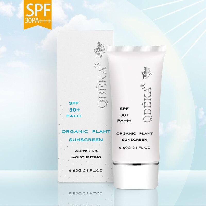 QBEKA SPF 30+ Organic Formula Moisturizing Whitening Sunscreen Natural Water Resistant Sunscreen