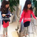 2016 New Kids girls skirt+jacket 2 pieces embroidered with casual plus thick velvet suit girls skirt suit embroidered clothes