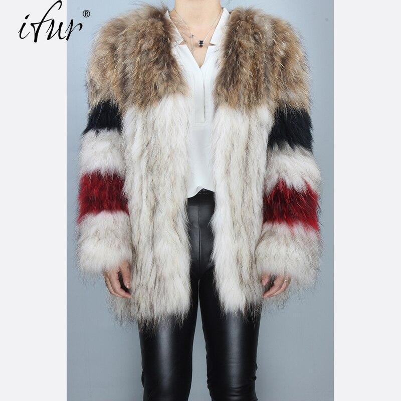 100 Qualité Brown Ifur Nouveau Raton Tissé Mode Red B008 De Type Gilet Fourrure Manteau Châle Couleur Haute White Laveur 2017 0wqYx0