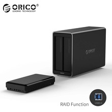 ORICO 2-Bay USB3.0 Hard Drive Dock with Raid Support 20TB Storage 5Gbps UASP with 12V4A Adapter HDD Enclosure Docking Station