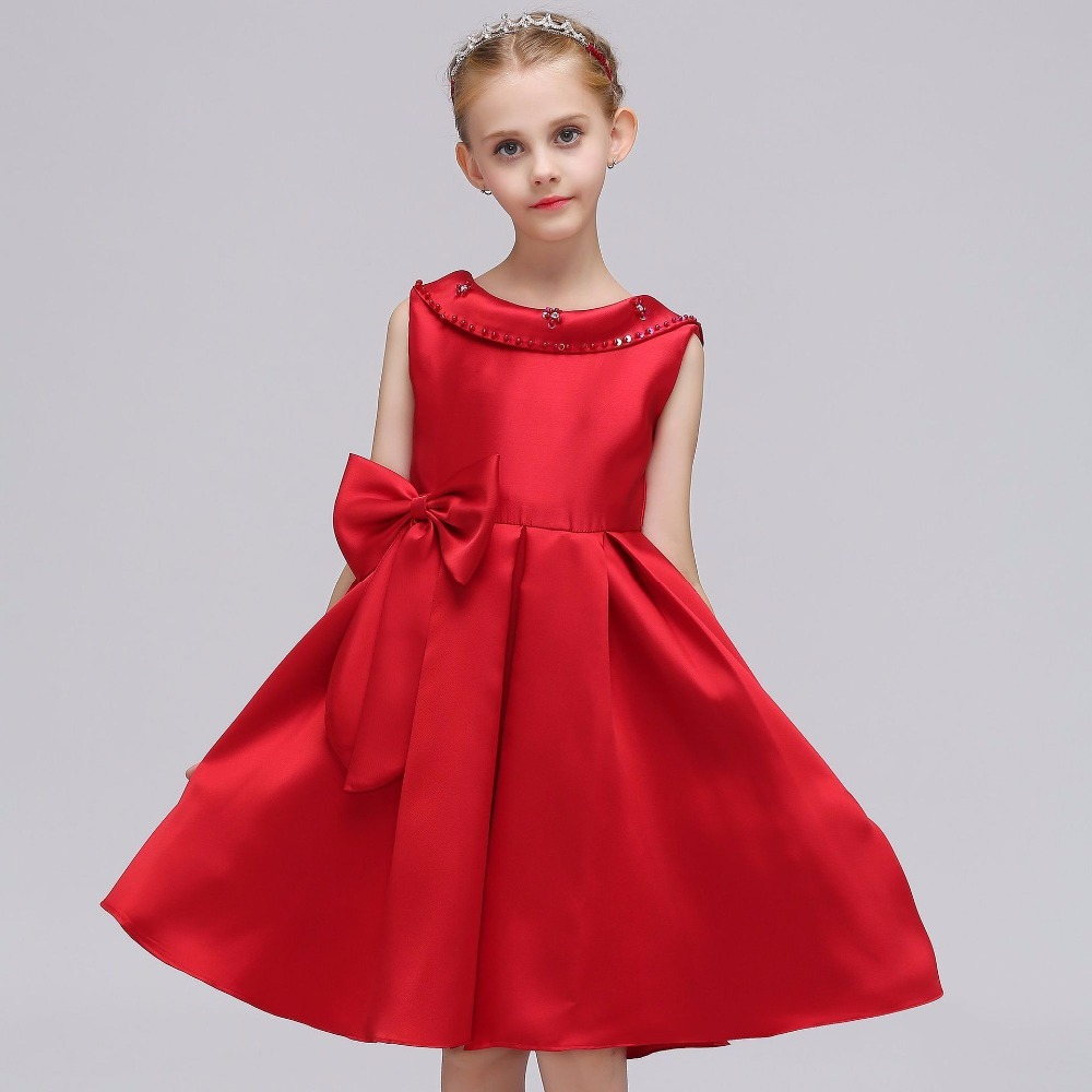 2018 European and American Flower Girls Dresses Baby Girl Princess Dress with Flower Girl Wedding Dress Backless Beading Gowns european and american new sequins lace sleeveless nude meal flower girl dresses show girls poncho big wedding dress