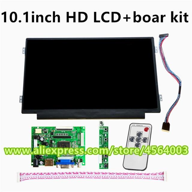 10,1 pulgadas 1366*768 pantalla B101XTN01.1 M101NWN8 R0 HSD101PHW1 monitor LCD Placa de controlador de control HDMI VGA kit frambuesa