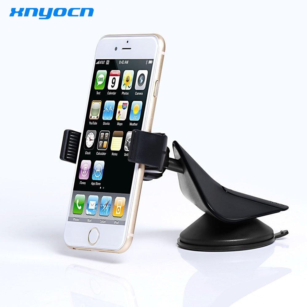 de89ca3881 Universal 360 Degree Rotating Car Mount Stand Holder Mobile Cell Phone  Holder For Samsung S5 S6 S7 Edge S8 plus For LG G4 G5 V20